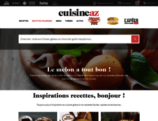 cuisineaz.com screenshot