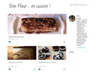 cuisinedefleur.blogspot.fr screenshot