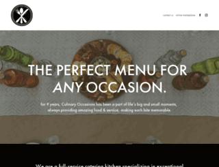 culinaryoccasions.com screenshot