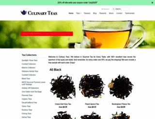 culinaryteas.com screenshot