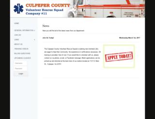 culpeperrescue.com screenshot