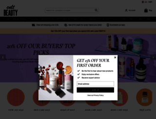cultbeauty.co.uk screenshot
