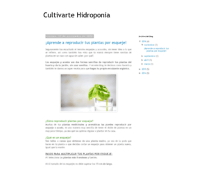 cultivartehidroponia.blogspot.mx screenshot