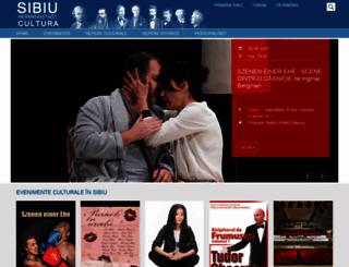 cultura.sibiu.ro screenshot