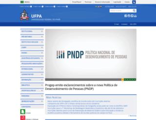 cultura.ufpa.br screenshot