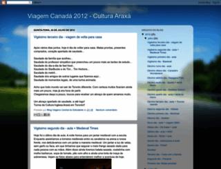 culturaaraxacanada2012.blogspot.com.br screenshot