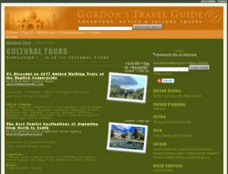cultural-tours.gordonsguide.com screenshot