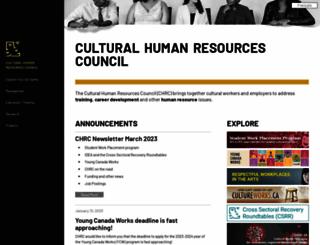 culturalhrc.ca screenshot