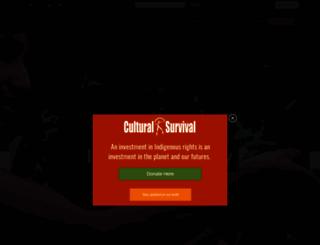 culturalsurvival.org screenshot