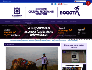 culturarecreacionydeporte.gov.co screenshot