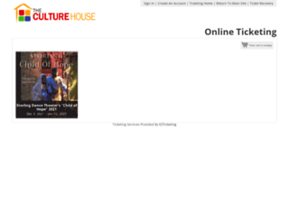 culturehouse.getmytix.net screenshot