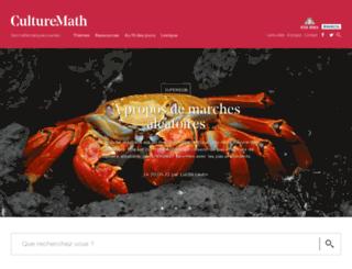 culturemath.ens.fr screenshot