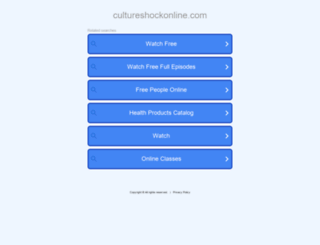 cultureshockonline.com screenshot
