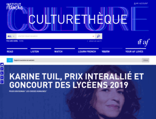 culturetheque.org.uk screenshot