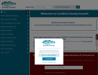 cumbria.gov.uk screenshot