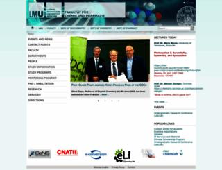 cup.uni-muenchen.de screenshot