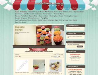 cupcakeboxes.com.au screenshot