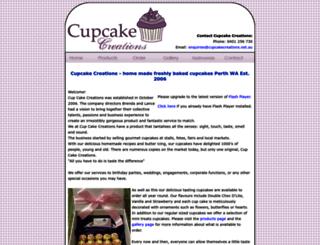 cupcakecreations.net.au screenshot