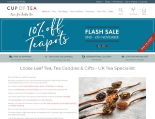 cupoftea.uk.com screenshot