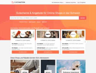 cuponation.ch screenshot