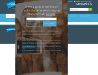 cuponisimo.diarioinformacion.com screenshot