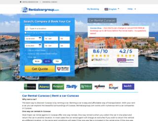 curacao.rentalcargroup.com screenshot