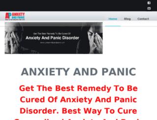 cureanxietyandpanic.com screenshot