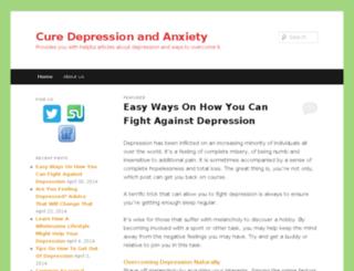 curedepressionanxiety.com screenshot