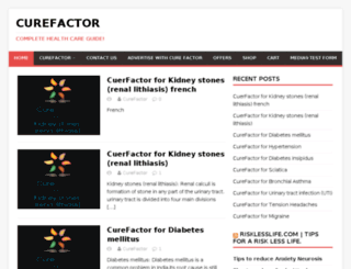 curefactor.net screenshot