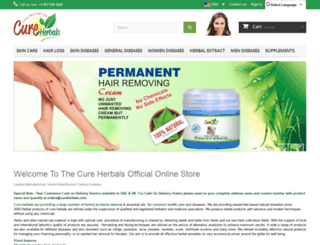 cureherbals.com screenshot