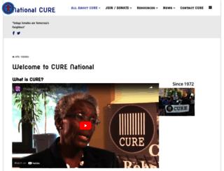 curenational.org screenshot