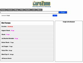 curezone.com screenshot