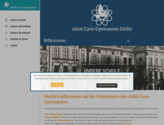 curiegymnasium.goerlitz.de screenshot