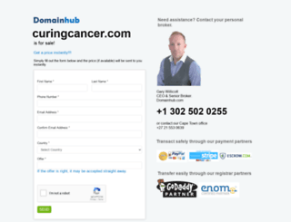 curingcancer.com screenshot
