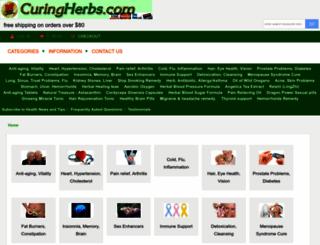 curingherbs.com screenshot