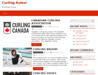 curlingrules.org screenshot