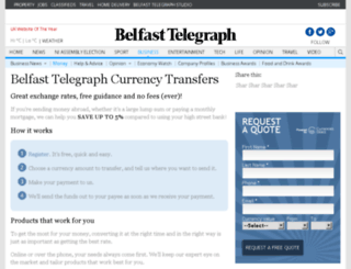 currency.belfasttelegraph.co.uk screenshot