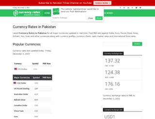 currency.pakistantimes.com screenshot