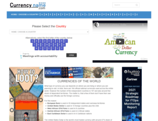 currencyname.com screenshot