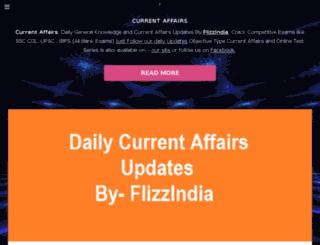 currentaffairs.flizzindia.com screenshot