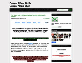 currentaffairs2012quiz.blogspot.in screenshot