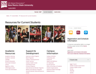 currentstudents.nmsu.edu screenshot
