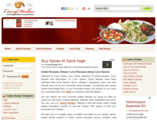 currydishes.com screenshot
