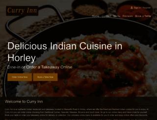 curryinn-horley.co.uk screenshot