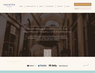 cursivecontent.com screenshot