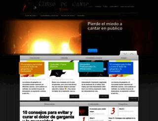 curso-de-canto.com screenshot