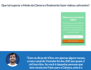 curso.falarpracamera.com screenshot