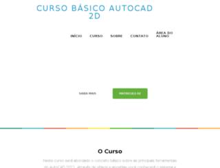 cursodeautocad2d.com.br screenshot