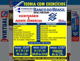 cursoprapassarpresencial.com.br screenshot