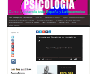 cursopsicologia.jimdo.com screenshot
